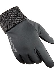 Sports Gloves Unisex Cycling Gloves Autumn/Fall Winter Bike Gloves Skidproof Protective Sweat-Wicking Durable Full-finger Gloves Cloth