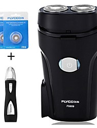 FLYCO FS859 Electric Shaver Razor Nose Device Two Spare Heads 220V Washable Head