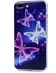 economico -Per iPhone X iPhone 8 Custodie cover Ultra sottile Fantasia/disegno Custodia posteriore Custodia Farfalla Morbido TPU per Apple iPhone X
