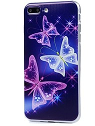 abordables -Para iPhone X iPhone 8 Carcasa Funda Ultrafina Diseños Cubierta Trasera Funda Mariposa Suave TPU para Apple iPhone X iPhone 8 Plus iPhone