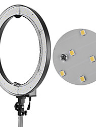 Andoer RL-680B 18.9/48cm 55W Dimmable 5500K Macro LED Video Ring Light Lamp 240pcs Beads w/ White Orange Filter 175cm/5.7ft Metal Light Stand Flexibl