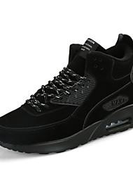 abordables -Femme Chaussures Daim Eté Automne Confort Chaussures d'Athlétisme Course à Pied Lacet pour De plein air Noir Gris Jaune Kaki