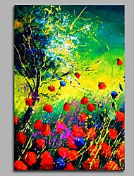 cheap -Flowers Wall Decor Hand Painted Contemporary Oil Paintings Modern Artwork Wall Art