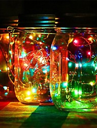 cheap -1Pcs   Led DIY Light String Solar Battery Operated Mason Jar Lid Insert Copper Fairy Strip Wire Outdoor Party Decoration Night Lamp