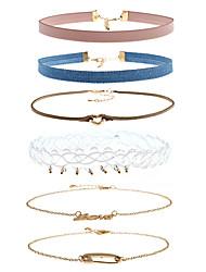 Недорогие -Жен. Multi-Wear способы Простой стиль Ожерелья-бархатки Стразы Сплав Ожерелья-бархатки , Повседневные Свидание