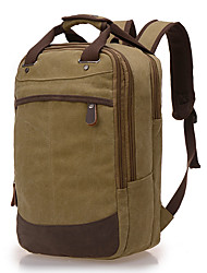 cheap -Men Bags Canvas Laptop Bag Zipper for Casual All Seasons Blue Coffee Khaki