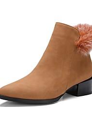 cheap -Women's Shoes Customized Materials Fall Winter Comfort Novelty Fashion Boots Bootie Combat Boots Light Soles Boots Flat Heel Low Heel