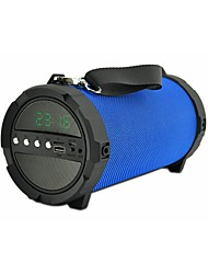 jy-48 Bluetooth Time Display Lights Bluetooth 3.0 3.5mm AUX Subwoofer Black Dark Blue Crimson