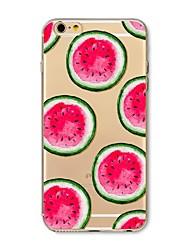Недорогие -Назначение iPhone X iPhone 8 Чехлы панели С узором Задняя крышка Кейс для Фрукты Мягкий Термопластик для Apple iPhone X iPhone 8 Plus