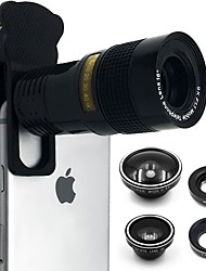 cheap -CAMRY Smartphone Camera Lenses 0.4X0.63X Wide Angle Lens 10X Macro Lens 9X Long Focal Lens Fish-eye Lens for ipad iphone Huawei xiaomi samsung