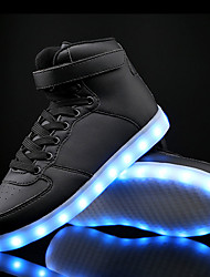 cheap -Men's Shoes Leatherette Fall / Winter Light Up Shoes / Comfort Sneakers White / Black / Blue