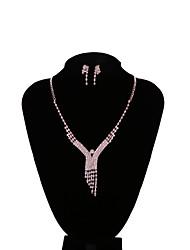 Per donna Orecchini a goccia Girocolli I monili nuziali Zirconi Di tendenza Vintage Elegant Zircone cubico Di forma geometrica Per