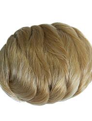 cheap -Light Blonde Classic Hair Bun High Quality chignons Synthetic Hair Hair Piece Hair Extension Classic Daily