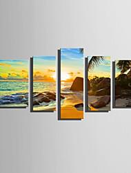 Stampa trasferimenti su tela Cinque Pannelli Tela Verticale Stampa Decorazioni da parete For Decorazioni per la casa