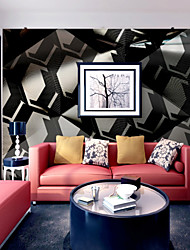 cheap -3D Houndstooth Special Design Home Decoration Modern Wall Covering, Canvas Material Adhesive required Mural, Room Wallcovering