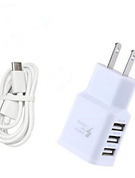 cheap -3.1A EU/US Triple USB Port Wall Home Travel AC Charger Adapter with 100CM Type-C Cable for Samsung S8/S8 Plus Huawei P10 SONY LG Xiaomi and Others