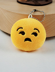 New Arrival Cute Emoji Rude Face Key Chain Plush Toy Gift Bag Pendant