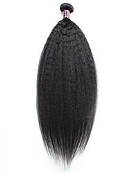abordables -Cheveux Brésiliens Yaki Tissages de cheveux humains Tissages de cheveux humains Noir Naturel