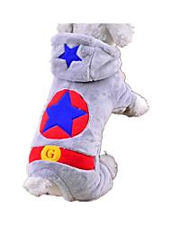 Perro Mono Ropa para Perro Templado Casual/Diario Estrellas Gris Disfraz Para mascotas