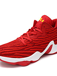 Women's Shoes Fabric Fall Comfort Athletic Shoes Basketball Shoes Flat Heel For Athletic Outdoor Royal Blue Black/White Red Black/Silver