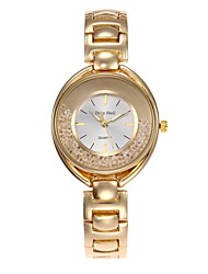 abordables -Mujer Cuarzo Simulado Diamante Reloj Reloj Esqueleto Chino Gran venta Aleación Banda Casual Moda Plata Dorado