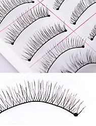 cheap -Women Lady Eye Universal Daily Eyelash Outdoor Holiday 10 Long Lasting Natural Extra Long Beauty Fashion smooth Full Strip Lashes