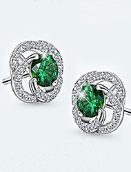 cheap -Women's Stud Earrings Crystal AAA Cubic Zirconia Fashion Luxury Crystal Cubic Zirconia Rose Jewelry For Gift Casual