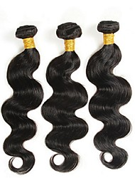 cheap -Virgin Brazilian Bundle Hair Body Wave Hair Extensions 3 Pieces Black