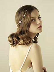 perleťové rhinestone tiary čelenky čelenka na hlavu řetězu elegantní styl