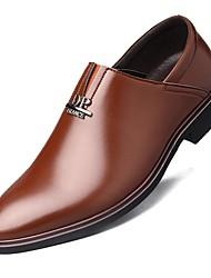 Homme Chaussures Microfibre Printemps Automne Chaussures formelles Mocassins et Chaussons+D6148 Rivet Pour Soirée & Evénement Noir Marron