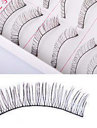 cheap -Eyelash Extensions False Eyelashes 20 pcs Natural Curly Fiber Full Strip Lashes Natural Long Lengthens the End of the Eye - Makeup Cosmetic Grooming Supplies