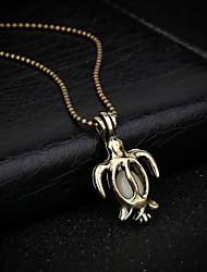 Недорогие -Жен. Черепаха Животный дизайн Ожерелья с подвесками Сплав Ожерелья с подвесками , Повседневные