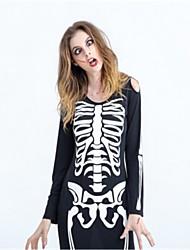 Squelette/Crâne Zombie Mariée Costumes de Cosplay Halloween Le jour des morts Fête / Célébration Déguisement d'Halloween Noir Mode