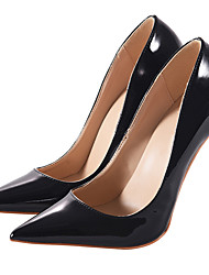 Women's Shoes Patent Leather Spring Fall Basic Pump Heels Stiletto Heel Pointed Toe For Party & Evening Dress Nude Wine Blue Green Black
