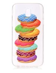 For Case Cover IMD Transparent Pattern Back Cover Case Food Soft TPU for Samsung Galaxy J7 (2016) J7 (2017) J5 (2016) J5 (2017) J3 J3