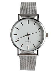 Недорогие -Жен. Наручные часы Модные часы Китайский Кварцевый / Нержавеющая сталь Группа На каждый день Elegant Серебристый металл