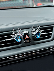 Car Air Outlet Grille Perfume  All The Way To Peace Crystal  A Pair  Zinc Alloy Material Automotive Air Purifier