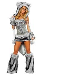 abordables -Lobo Disfrace de Cosplay Halloween Festival / Celebración Disfraces de Halloween Gris Moda