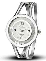 cheap -Women's Fashion Watch Simulated Diamond Watch Unique Creative Watch Chinese Quartz Alloy Band Bangle Casual Black White Blue Pink