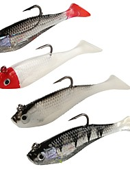 "4 pcs Soft Bait g/Ounce mm/3-1/4"" inch,Plastic Sea Fishing Bait Casting Spinning Jigging Fishing Freshwater Fishing Lure Fishing General"