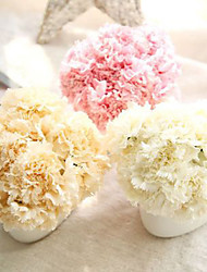 Bouquet Artificial Carnation Silk Flowers Fake Leaf Home Decoration 6 Branch/Bundle