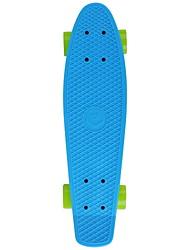 22,5 pouces Planches à roulettes complètes Professionnel Plastique ABEC-5-Bleu Couleur Pleine