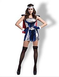 cheap -Magic Women Cosplay Costume Christmas Halloween Carnival Oktoberfest New Year Festival / Holiday Halloween Costumes Blue Solid Color