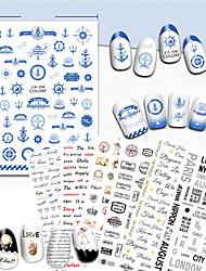 1 Nail Art Sticker  Pattern Accessories Art Deco/Retro 3D Nail Stickers Cartoon 3-D Sticker DIY Supplies Makeup Cosmetic Nail Art Design