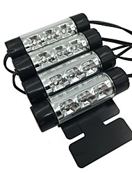 ziqiao 4pcs carro estilo interior de estacionamento decorativo light passat 3 leds levou lâmpada carro porta carga 12v brilho 4in1
