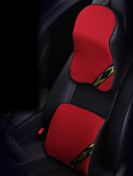 Automotive Headrest & Waist Cushion Kits For universal Car Headrests Ice Silk