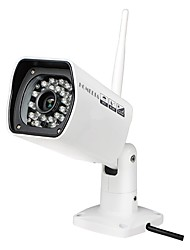 HOMEDIA® 720P IP Camera Outdoor Waterproof 6mm 1/2.7'' CMOS P2P 24Leds IR Night Vision Mobile View