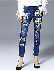 cheap -Women's Slim Chinos Jeans Pants - Letter, Print