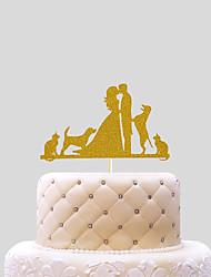 Decorazioni torte Cuori Carta Matrimonio Matrimonio Bustina PVC
