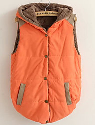cheap -Women's Going out Cute Active Plus Size Cotton Vest - Solid Colored, Oversized Hooded